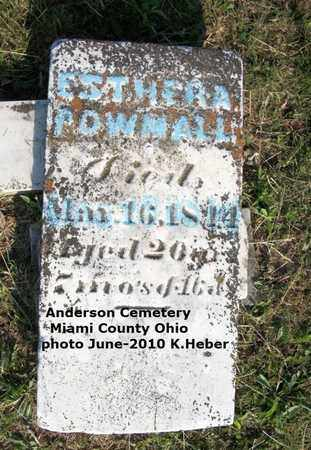 POWMALL, ESTHER A - Miami County, Ohio | ESTHER A POWMALL - Ohio Gravestone Photos