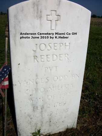 REEDER, JOSEPH - Miami County, Ohio | JOSEPH REEDER - Ohio Gravestone Photos