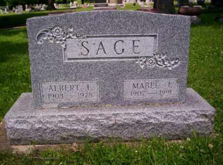 SAGE, MABEL I - Miami County, Ohio | MABEL I SAGE - Ohio Gravestone Photos