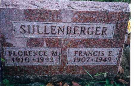 SULLENBERGER, FRANCIS E - Miami County, Ohio | FRANCIS E SULLENBERGER - Ohio Gravestone Photos