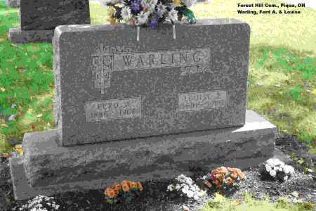 WARLING, FERDINAND - Miami County, Ohio | FERDINAND WARLING - Ohio Gravestone Photos