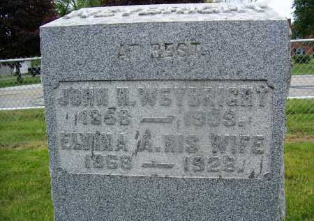 WEYBRIGHT, ELVINA - Miami County, Ohio | ELVINA WEYBRIGHT - Ohio Gravestone Photos