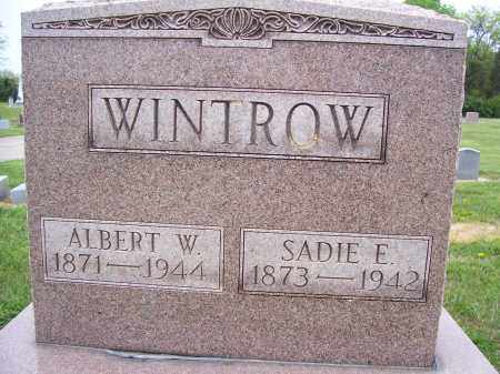 WINTROW, ALBERT W - Miami County, Ohio | ALBERT W WINTROW - Ohio Gravestone Photos