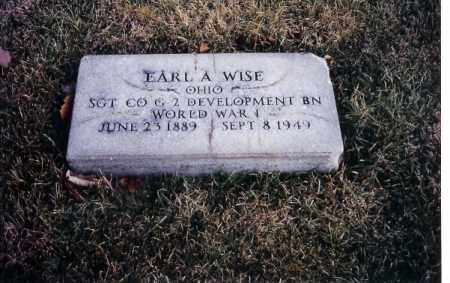 WISE, EARL A. - Miami County, Ohio | EARL A. WISE - Ohio Gravestone Photos