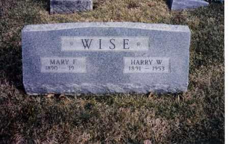 WISE, MARY F. - Miami County, Ohio | MARY F. WISE - Ohio Gravestone Photos
