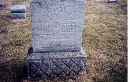 BURNS WISE, ISABEL - Miami County, Ohio | ISABEL BURNS WISE - Ohio Gravestone Photos