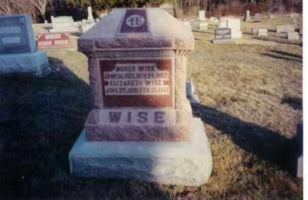 WISE, ELIZABETH - Miami County, Ohio | ELIZABETH WISE - Ohio Gravestone Photos