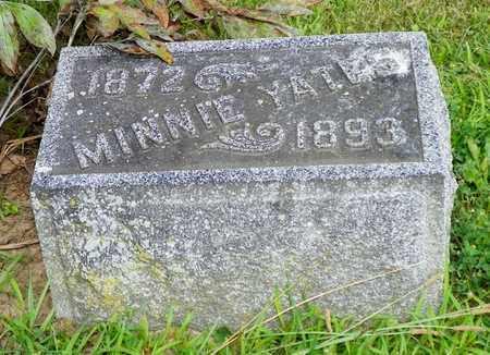 YATES, MINNIE - Miami County, Ohio | MINNIE YATES - Ohio Gravestone Photos
