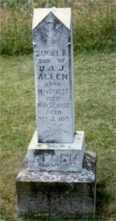 ALLEN, SAMUEL REBEE - Monroe County, Ohio | SAMUEL REBEE ALLEN - Ohio Gravestone Photos