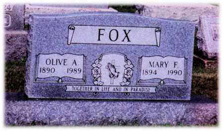 FOX, MARY - Monroe County, Ohio | MARY FOX - Ohio Gravestone Photos