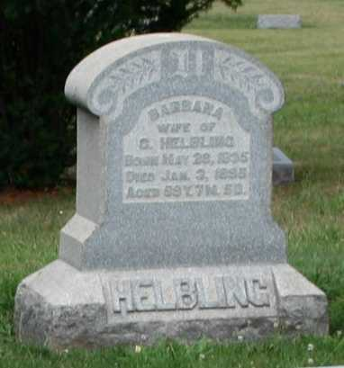 HELBLING, BARBARA - Monroe County, Ohio | BARBARA HELBLING - Ohio Gravestone Photos