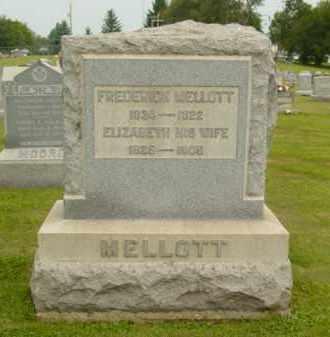 MELLOTT, ELIZABETH - Monroe County, Ohio | ELIZABETH MELLOTT - Ohio Gravestone Photos