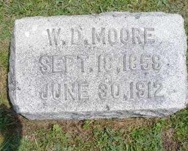 MOORE, W. D. - Monroe County, Ohio | W. D. MOORE - Ohio Gravestone Photos