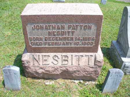 NESBITT, JONATHAN PATTON - Monroe County, Ohio | JONATHAN PATTON NESBITT - Ohio Gravestone Photos