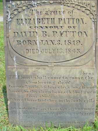 MARTIN PATTON, ELIZABETH - Monroe County, Ohio | ELIZABETH MARTIN PATTON - Ohio Gravestone Photos