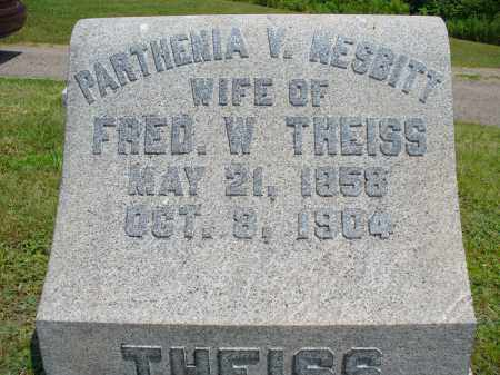 NESBITT THEISS, PARTHENIA V. - Monroe County, Ohio | PARTHENIA V. NESBITT THEISS - Ohio Gravestone Photos