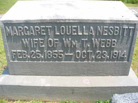 WEBB, MARGARET LOUELLA - Monroe County, Ohio | MARGARET LOUELLA WEBB - Ohio Gravestone Photos