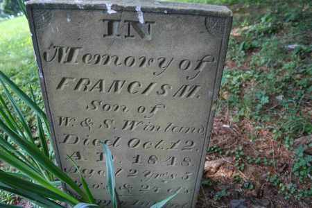 WINLAND, FRANCIS M. - Monroe County, Ohio | FRANCIS M. WINLAND - Ohio Gravestone Photos