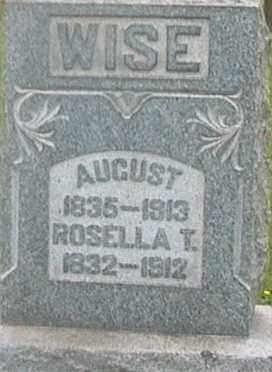 WISE, AUGUST - Monroe County, Ohio | AUGUST WISE - Ohio Gravestone Photos