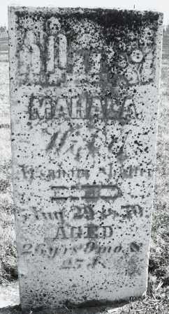 ?, MAHALA - Montgomery County, Ohio | MAHALA ? - Ohio Gravestone Photos