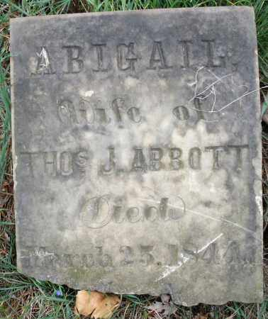 ABBOTT, ABIGAIL - Montgomery County, Ohio | ABIGAIL ABBOTT - Ohio Gravestone Photos