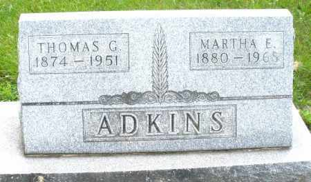ADKINS, MARTHA E. - Montgomery County, Ohio | MARTHA E. ADKINS - Ohio Gravestone Photos
