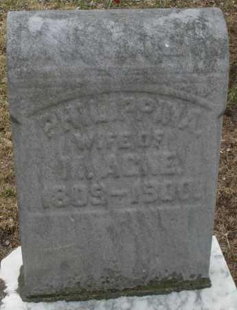 AGNE, PHILIPPINA - Montgomery County, Ohio | PHILIPPINA AGNE - Ohio Gravestone Photos