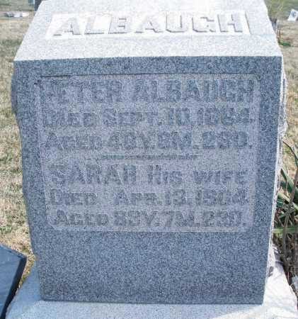 ALBAUGH, SARAH - Montgomery County, Ohio | SARAH ALBAUGH - Ohio Gravestone Photos