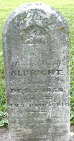 ALBRIGHT, GEORGE - Montgomery County, Ohio | GEORGE ALBRIGHT - Ohio Gravestone Photos