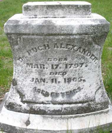 ALEXANDER, HUGH DR. - Montgomery County, Ohio   HUGH DR. ALEXANDER - Ohio Gravestone Photos