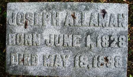 ALLAMAN, JOSEPH - Montgomery County, Ohio | JOSEPH ALLAMAN - Ohio Gravestone Photos
