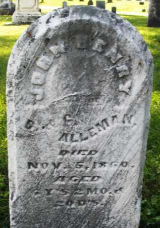 ALLEMAN, JOHN HENRY - Montgomery County, Ohio | JOHN HENRY ALLEMAN - Ohio Gravestone Photos