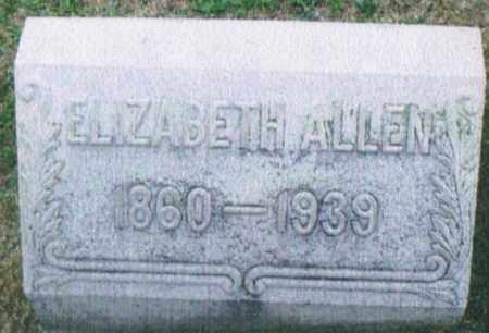ALLEN, ELIZABETH - Montgomery County, Ohio | ELIZABETH ALLEN - Ohio Gravestone Photos