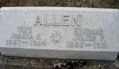ALLEN, JULIUS F. - Montgomery County, Ohio | JULIUS F. ALLEN - Ohio Gravestone Photos