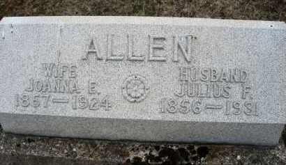 ALLEN, JOANNA E. - Montgomery County, Ohio | JOANNA E. ALLEN - Ohio Gravestone Photos