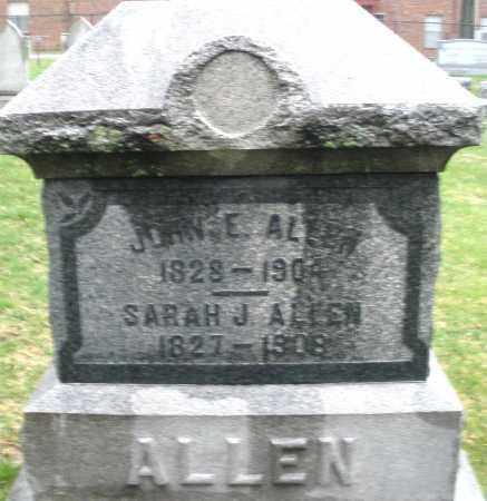 ALLEN, SARAH J. - Montgomery County, Ohio | SARAH J. ALLEN - Ohio Gravestone Photos