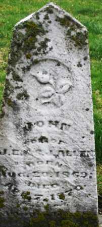 ALLEN, JOHN - Montgomery County, Ohio | JOHN ALLEN - Ohio Gravestone Photos