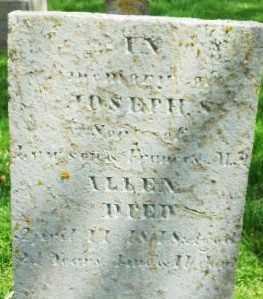ALLEN, JOSEPH - Montgomery County, Ohio | JOSEPH ALLEN - Ohio Gravestone Photos