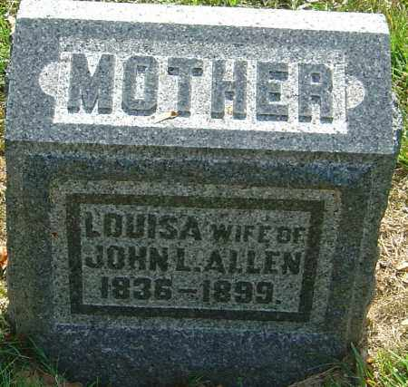 ALLEN, LOUISA - Montgomery County, Ohio | LOUISA ALLEN - Ohio Gravestone Photos