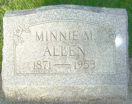 ALLEN, MINNIE M - Montgomery County, Ohio | MINNIE M ALLEN - Ohio Gravestone Photos