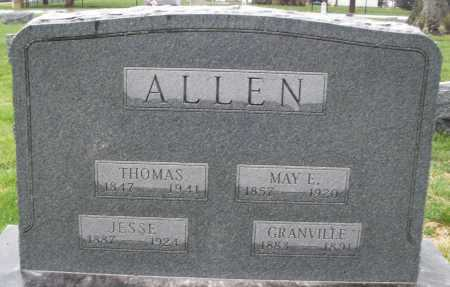ALLEN, MAY E. - Montgomery County, Ohio | MAY E. ALLEN - Ohio Gravestone Photos