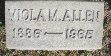 ALLEN, VIOLA M. - Montgomery County, Ohio | VIOLA M. ALLEN - Ohio Gravestone Photos
