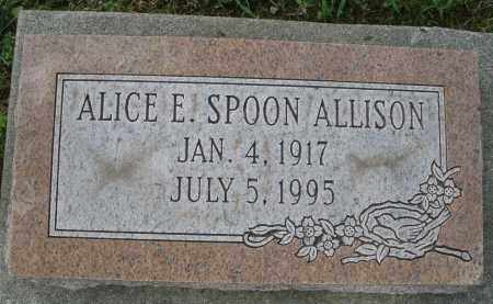 SPOON ALLISON, ALICE E. - Montgomery County, Ohio | ALICE E. SPOON ALLISON - Ohio Gravestone Photos