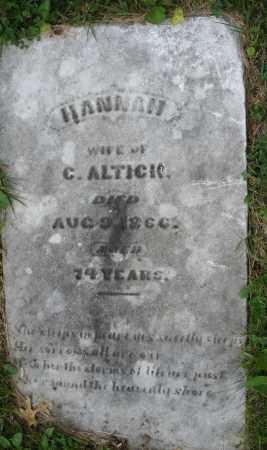 ALTICK, HANNAH - Montgomery County, Ohio | HANNAH ALTICK - Ohio Gravestone Photos