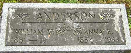 ANDERSON, WILLIAM W - Montgomery County, Ohio | WILLIAM W ANDERSON - Ohio Gravestone Photos