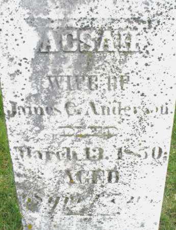 ANDERSON, ACSAH - Montgomery County, Ohio | ACSAH ANDERSON - Ohio Gravestone Photos