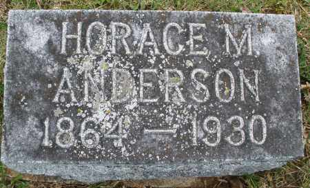 ANDERSON, HORACE M. - Montgomery County, Ohio | HORACE M. ANDERSON - Ohio Gravestone Photos