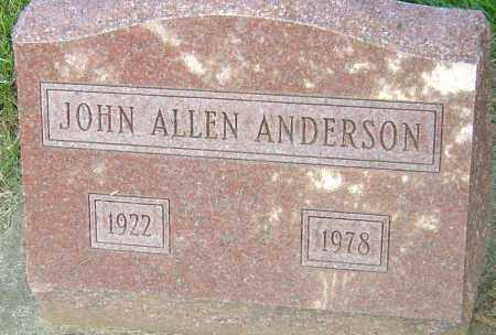 ANDERSON, JOHN ALLEN - Montgomery County, Ohio | JOHN ALLEN ANDERSON - Ohio Gravestone Photos