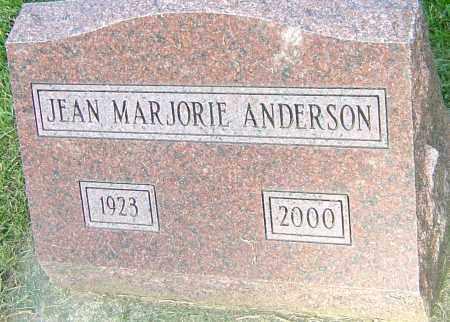 ANDERSON, JEAN MARJORIE - Montgomery County, Ohio | JEAN MARJORIE ANDERSON - Ohio Gravestone Photos