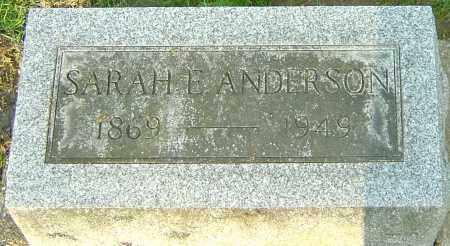 ANDERSON, SARAH E - Montgomery County, Ohio | SARAH E ANDERSON - Ohio Gravestone Photos